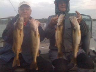 Oswego Harbor fishing for trophy size walleyes in Oswego NY.